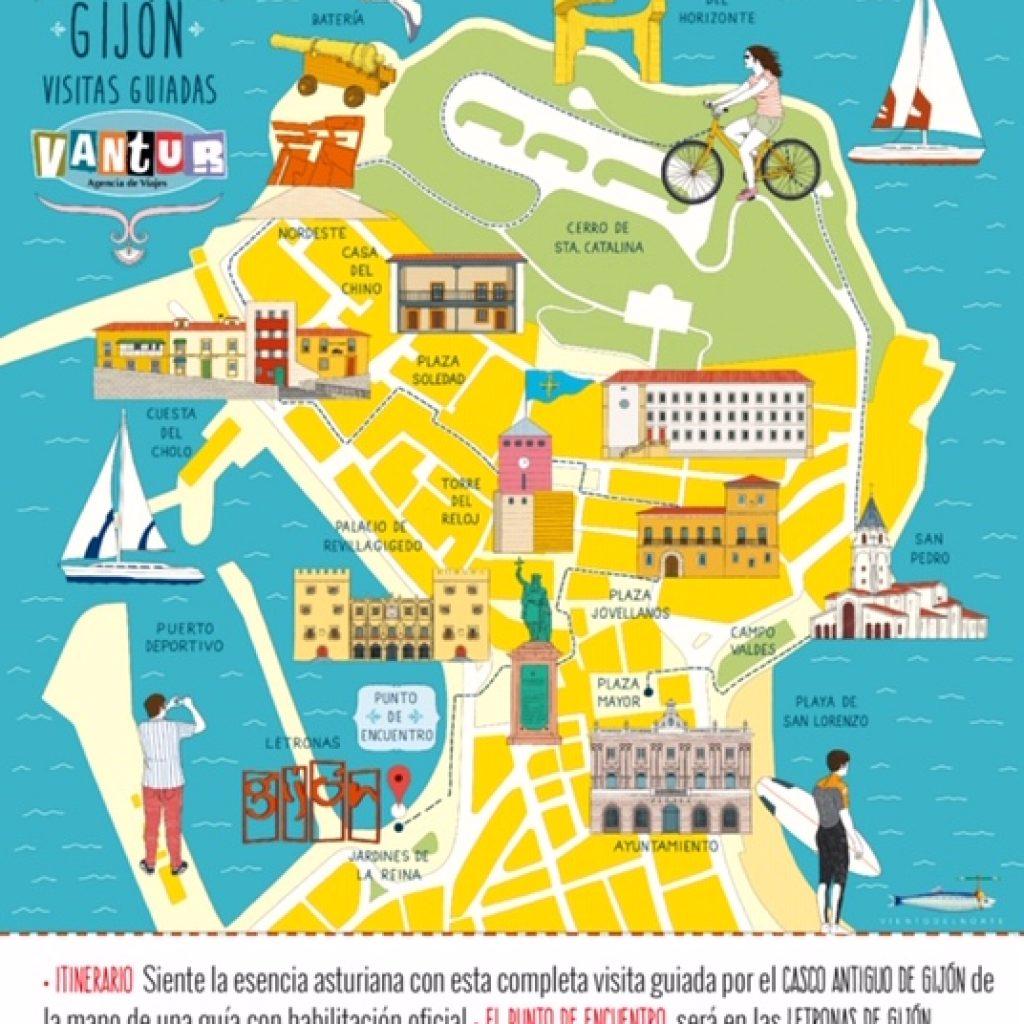 Itinerario Visita Guiada Gijón